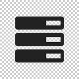 Database, server vector icon. Storage vector illustration Stock Photos
