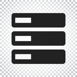 Database, server vector icon. Storage vector illustration. Simpl Royalty Free Stock Photography