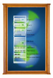 database server in wooden picture modern frame Royalty Free Stock Photos