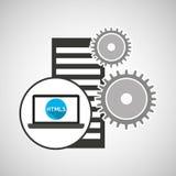 Database setting laptop language code Royalty Free Stock Image