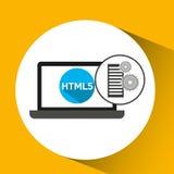 Database setting laptop language code Stock Images