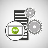 Database setting php computer web. Vector illustration eps 10 Royalty Free Stock Image