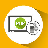 Database setting php computer web. Vector illustration eps 10 Royalty Free Stock Photo