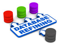 Database sorting or refining Stock Image