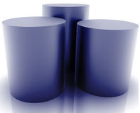 Database storage. Technology abstract illustration with 3d cylinders Stock Photo