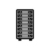 Database storage computer. Icon  illustration graphic design Royalty Free Stock Photography