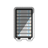 Database storage computer. Icon  illustration graphic design Royalty Free Stock Image
