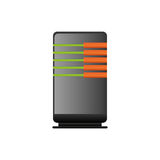 Database storage computer. Icon  illustration graphic design Stock Images