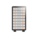 Database storage computer. Icon  illustration graphic design Stock Photography