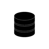 Database storage computer. Icon  illustration graphic design Royalty Free Stock Photo