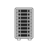 Database storage computer. Icon  illustration graphic design Royalty Free Stock Images