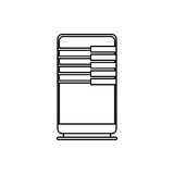 Database storage computer. Icon  illustration graphic design Royalty Free Stock Photos
