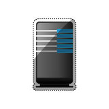 Database storage computer. Icon  illustration graphic design Stock Photos