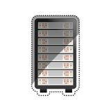 Database storage computer. Icon  illustration graphic design Stock Image