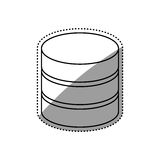 Database storage computer. Icon  illustration graphic design Stock Image