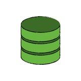 Database storage computer. Icon  illustration graphic design Stock Photo