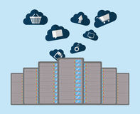 Database storage computer. Icon vector illustration graphic design Stock Images