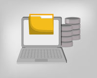 Database storage computer. Icon vector illustration graphic design Stock Photos