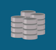 Database storage computer. Icon vector illustration graphic design Royalty Free Stock Photos