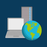 Database storage computer. Icon vector illustration graphic design Stock Photography