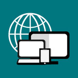 Database storage computer. Icon vector illustration graphic design Royalty Free Stock Image