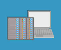 Database storage computer. Icon vector illustration graphic design Stock Image