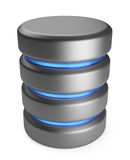 Database. Storage concept. 3D icon isolated Stock Image