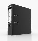 Database storage concept. Black folder  on white background - database storage concept Stock Photos