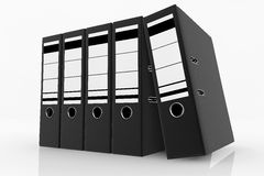 Database storage concept. Black folders arrange on white background - database storage concept Royalty Free Stock Photo