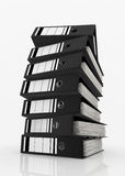 Database storage concept. Black folders stack on white background - database storage concept Stock Images