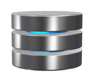 Database storage concept, cloud computing. 3d cloud icon, database storage concept, cloud computing Stock Photography