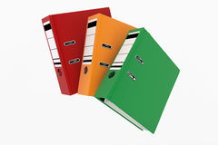 Database storage concept. Colorful office file binders, folder stack - database storage concept Stock Image