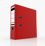 Database storage concept. Red folder  on white background - database storage concept Stock Photography