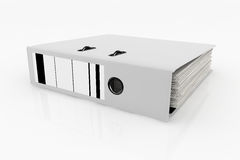 Database storage concept. White folder  on white background - database storage concept Royalty Free Stock Image