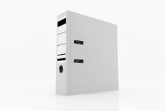 Database storage concept. White folder  on white background - database storage concept Royalty Free Stock Photo
