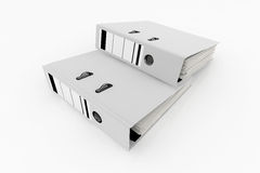 Database storage concept. White folders  on white background - database storage concept Royalty Free Stock Image