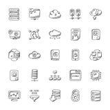 Database and Storage Flat Icons