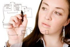Database structure Royalty Free Stock Images