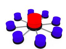 Database structure Stock Image