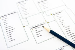 Database structure design Stock Photography
