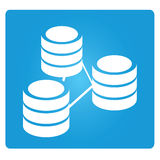 Database. Symbol in blue button royalty free illustration
