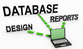 Database System. For Reports and Data Analysis Stock Images