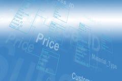Database Table Royalty Free Stock Image