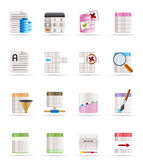 Database and Table Formatting Icons Stock Photos