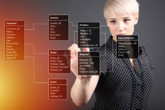Database Table - technical concept Stock Images