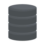 Database virtual storage. Icon vector illustration graphic design Royalty Free Stock Photo