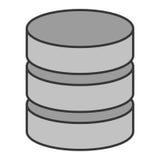 Database virtual storage. Icon vector illustration graphic design Stock Photo
