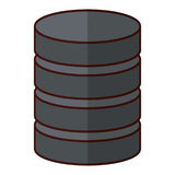 Database virtual storage. Icon vector illustration graphic design Royalty Free Stock Photos