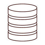 Database virtual storage. Icon vector illustration graphic design Royalty Free Stock Photography