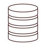 Database virtual storage Royalty Free Stock Photography